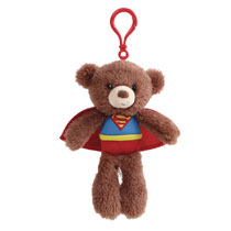Image: Gund DC Plush Backpack Clip: Superman  (7-inch) - Gund