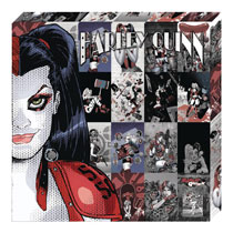Image: DC Metallic Canvas Art: Harley Quinn Profile  - Cohen Hazan Group LLC