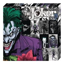 Image: DC Metallic Canvas Art: Joker Profile  - Cohen Hazan Group LLC