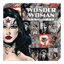 Image: DC Metallic Canvas Art: Wonder Woman Profile  - Cohen Hazan Group LLC