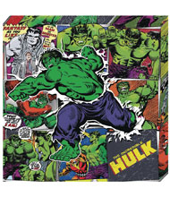 Image: Marvel Metallic Canvas Art: Hulk Action  - Cohen Hazan Group LLC