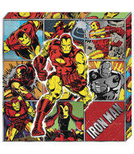 Image: Marvel Metallic Canvas Art: Iron Man Action  - Cohen Hazan Group LLC