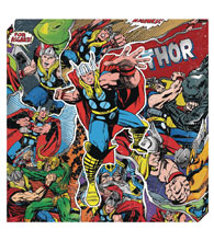 Image: Marvel Metallic Canvas Art: Thor Action  - Cohen Hazan Group LLC