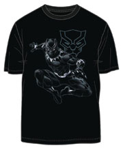 Image: Black Panther T-Shirt: Jungle Lord [Black]  (L) - Mighty Fine