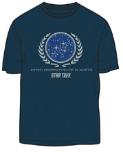 Image: Star Trek T-Shirt: United Federation of Planets  (L) - Mighty Fine