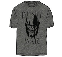 Image: Avengers: Infinity War T-Shirt - Thano's Infinity War [Charcoal Heather]  (XL) - Mighty Fine
