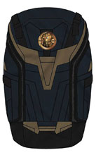 Image: Marvel Thanos Inspired Rear Zip Backpack  - Bioworld Merchandising