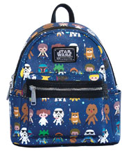 Image: Loungefly Star Wars Mini-Backpack: Faux Leather Aop  - Loungefly