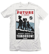 Image: Futurama T-Shirt: Future Today [White]  (XL) - Fifth Sun