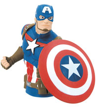 Image: Marvel PVC Bust Bank: Captain America  - Monogram Products