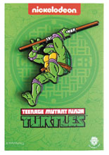 Image: Teenage Mutant Ninja Turtles Enamel Pin: Leaping Donatello  - Zen Monkey Studios