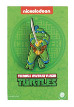Image: Teenage Mutant Ninja Turtles Enamel Pin: Leaping Leonardo  - Zen Monkey Studios