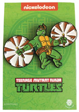 Image: Teenage Mutant Ninja Turtles Enamel Pin: Leaping Michelangelo  - Zen Monkey Studios