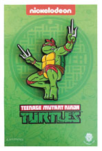 Image: Teenage Mutant Ninja Turtles Enamel Pin: Leaping Raphael  - Zen Monkey Studios