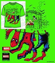 Image: Spider-Man: Air Dry Kelly Green PX T-Shirt  (L) - Mad Engine
