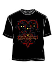 Image: Kingdom Hearts: Shadow Heartless Black PX T-Shirt  (L) -