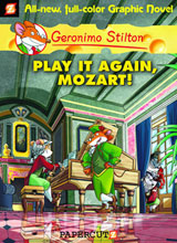 Image: Geronimo Stilton Graphic Novel #08: Play It Again Mozart! HC  - Papercutz