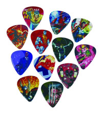 Image: Marvel Guitar Pick Pack: Heroes 1  -