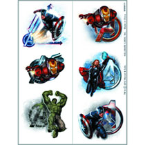 Image: Avengers Temporary Tattoo 6-Piece Case  - Party Supplies