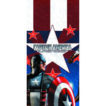 Image: Captain America Table Cover  - Party Supplies