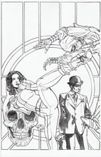 Image: Steed and Mrs. Peel #2 (15-copy Johnson B&W incentive - cover C) (v15) - Boom! Studios