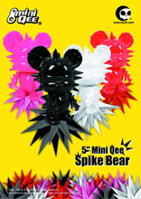 Image: Spike Bear DIY Mini Qee 5-inch Vinyl Figure Hot Pink Version  - Other Designer Toys
