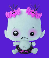 Image: Vamplets Plush: Lilly Rose Shadowlyn  - Action Lab Entertainment