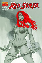 Image: Red Sonja #16 (Frison variant incentive cover - 16031) (15-copy) - Dynamite