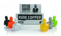 Image: Rude Copper 4-Inch Vinyl Figure 12-Piece Blind Mystery Box Display  -