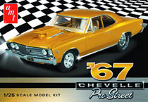 Image: 67 Chevy Chevelle Pro Street 1/25 Scale Model Kit  -