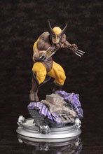 Image: Marvel Danger Room Sessions Statue: Wolverine  (Brown Costume) -