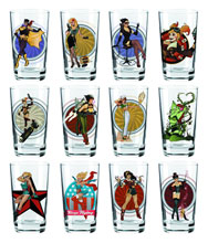 Image: DC Bombshells Toon Tumblers Pint Glass: Black Canary  -