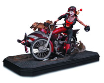 Image: Gotham City Garage Harley Quinn Deluxe Statue  - DC Comics