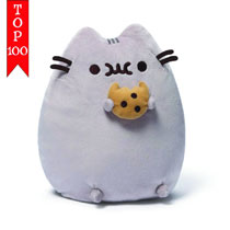 Image: Pusheen Plush  (w/Cookie) (9-inch) -