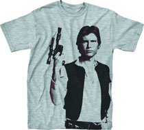 Image: Star Wars T-Shirt: Han the Man [Heather Grey]  (XL) - Mighty Fine