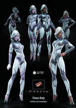 Image: Coreplay Fitness Body Action Figure  (Light version) - Beijing Coreplay