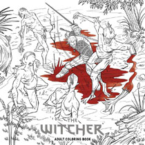 Image: Witcher Adult Coloring Book SC  - Dark Horse Comics