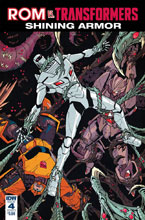 Image: Rom vs. Transformers: Shining Armor #4 (cover A - Milne) - IDW Publishing