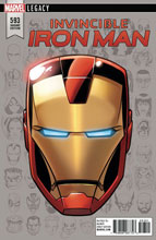 Image: Invincible Iron Man #593 (Legacy) (variant cover - Legacy Headshot) - Marvel Comics