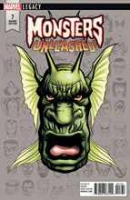 Image: Monsters Unleashed #7 (Legacy) (variant cover - McKone Legacy Headshot) - Marvel Comics