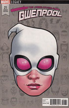 Image: Unbelievable Gwenpool #21 (variant cover - McKone Legacy Headshot) - Marvel Comics