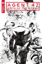 Image: Agent 47: Birth of the Hitman #1 (cover D incentive - Lau B&W) (10 Copy) - Dynamite