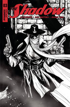 Image: Shadow Vol. 03 #3 (cover F incentive - Kirkham B&W) (30 Copy) - Dynamite