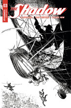Image: Shadow Vol. 03 #3 (cover G incentive - Kaluta B&W) (40 Copy) - Dynamite