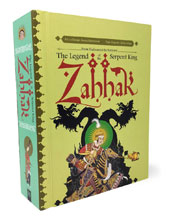 Image: Zahhak: Legend of the Serpent King Pop-Up Book HC  - Fantagraphics Books