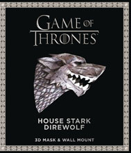 Image: Game of Thrones Mask with Book: House Stark Direwolf  - Bantam / Spectra