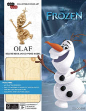 Image: Incredibuilds: Frozen Olaf Deluxe Model  (w/Book) - Insight Editions