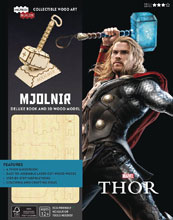Image: Incredibuilds: Marvel Thor Deluxe Model  (w/Book) - Insight Editions