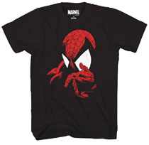 Image: Marvel T-Shirt: Spidey - Think Red Foil [Black]  (XXL) - Mad Engine