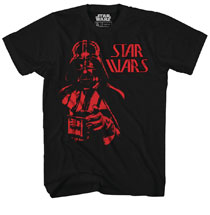 Image: Star Wars T-Shirt: Vader Bust Red Glow-in-the-Dark [Black]  (S) - Mad Engine